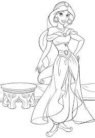 Princess Jasmine Coloring Pages For Kids