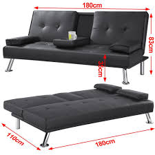 Foam Folding Chair Bed Uk by Tinkertonk Modern Extra Comfort 3 Seater Faux Leather Sofa Bed