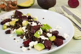 linsensalat mit avocado und roter bete katha kocht