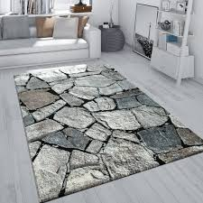 teppich wohnzimmer stein motiv fels muster 3 d