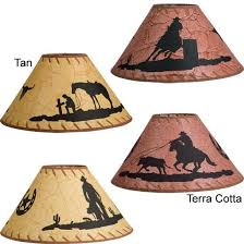 Rawhide Lamp Shades Ebay by Western Silhouette Lamp Shades For The Home Pinterest