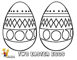 Two Eggs For Easter Day Colouring Fun At YesColoring