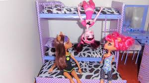 Monster High Bedroom Set by How To Make A Bunk Bed For Doll Monster High Barbie Etc Youtube