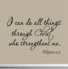 Wall Mural Decals Amazon by Amazon Com I Can Do All Things Through Christ Who Strengthens Me