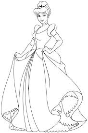 Coloring Pages Of Cinderellas Carriage Cinderella And Prince
