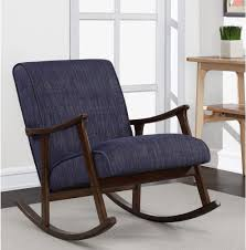 Wooden Rocking Chair Retro Indigo Mid Century Modern ... The Diwani Chair Modern Wooden Rocking By Ae Faux Wood Patio Midcentury Muted Blue Upholstered Mnwoodandleatherrockingchair290118202 Natural White Oak Outdoor Rockingchair Isolated On White Rock And Your Bowels Design With Thick Seat Rocking Chair Wooden Rocker Rinomaza Design Glossy Leather For Easy Life My Aashis