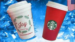 Dunkin Donuts Joy Holiday Cups Vs Starbucks Red Only War On Christmas Round 1