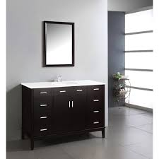 60 Inch Bathroom Vanity Single Sink Black by Simpli Home Chelsea 48 In Vanity In Black With Quartz Marble