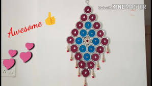 How To Make Wall Hanging From Old Bangles And Cloth