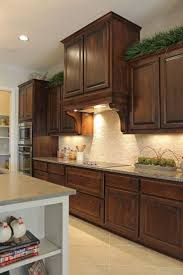 Kitchen Backsplash Ideas With Dark Oak Cabinets by Top 25 Best Stained Kitchen Cabinets Ideas On Pinterest Kitchen