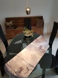 details zu design glastisch mit marmor sockel
