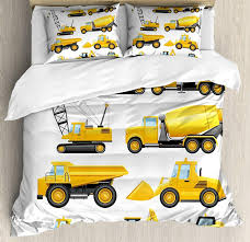 100 Boys Truck Bedding BoyS Duvet Cover Set Abstract Images Of Construction Vehicles And