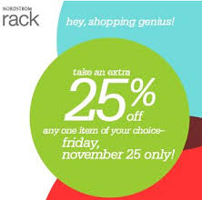 Nordstrom Rack  off e Item Coupon on Black Friday 11 25