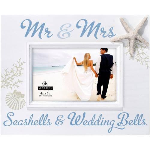 "Malden Mr and Mrs Seashells Frame - 4"" x 6"""