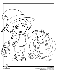 Dora The Explorer Coloring Pages Halloween Page