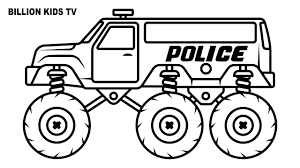 Police Monster Truck Coloring Pages   Free Coloring Pages