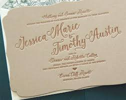 Bargain Wedding Invitations Letterpress Invitation Sale Bracket Shaped Rustic