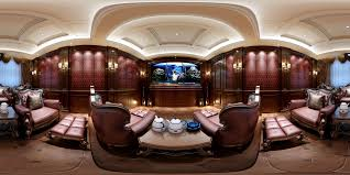 100 European Home Interior Design Panorama Home Theater Conference Room 04 3D Model