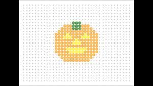 Halloween Perler Bead Patterns by Hama Bead Pumpkin Halloween Series 1 Youtube