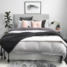 The Pretty Bedroom Of Sheree Myhouseloves Featuring Our Blush Button Cushion