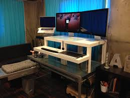Monitor Shelf For Desk Ikea by Working With Ikea Stand Up Desk Face Your Job Powerfully Homesfeed