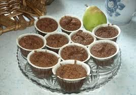 schoko birnen muffins ohne mehl