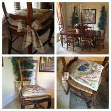 Needlepoint Cushions With Tie Backs Roxanne Ladder Back Chairs