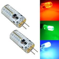 g4 led 3w green blue light bulbs 12v ac dc 2 pack