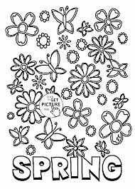 Spring Flowers Coloring Pages Free Printable Archives Inside Of