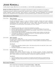 Examples Of Objectives For Clerical Resumes Sample Resume Samples Office Assistant Short Sale Administrative Resu