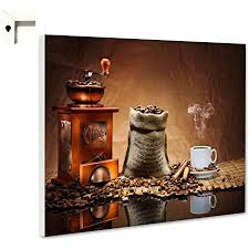 magnettafel pinnwand küche kaffee mühle bohnen größe 60 x 40 cm
