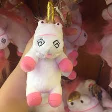 Despicable Me Agnes Fluffy Unicorn Keychain Womens Fashion Accessories On Carousell