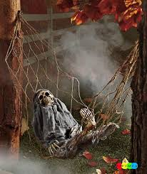 Outdoor Halloween Decoration Ideas To Make Your Home Look Spooky Horrifying Skeleton Artificial For