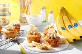 cupcakes mit chiquita bananen und erdnussbutter chiquita