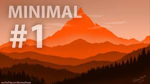 100 Minimalist Landscape Minimal Flat Design 1 Speed Art Photoshop Time Lapse Tutorial
