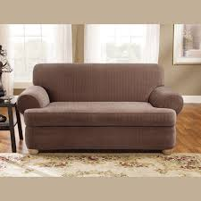 Sure Fit Wing Chair Recliner Slipcover by Sure Fit Stretch Pinstripe T Cushion Two Piece Loveseat Slipcover