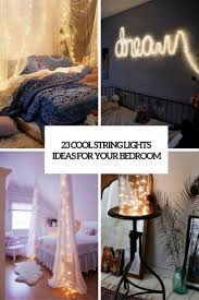 23 Cool String Lights Ideas For Your Bedroom