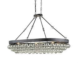 glass and iron oval chandelier the designer insider