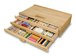 Creative Mark 3 Drawer Wood Storage Box