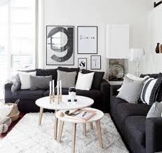 déco canapé noir ide dco noir et blanc salon gallery of excellent decoration salon