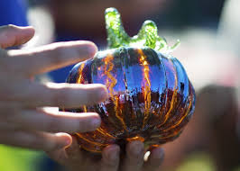 Blown Glass Pumpkins Boston by Eighth Annual Great Glass Pumpkin Patch Brings Fall Spirit To
