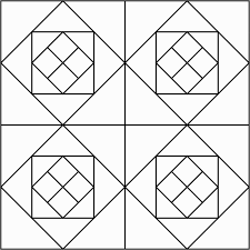 Quilt Block Coloring Pages Blocks Printable Atkinson Flowers