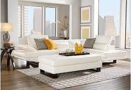 nagoya white 3 pc sectional living room living room sets white
