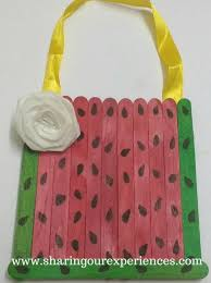 Free Step By Crafts Tutorial On How To Make A Watermelon Themed Handmade Wall Hanging