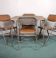 samsonite folding card table and chairs ebth