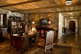 Rustic Style Modular Home Office