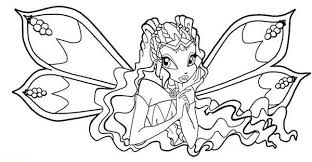 The Guardian Fairy Of Nature Winx Club Coloring Pages