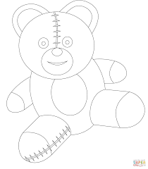 Berenstain Bears Christmas Tree Coloring Page cute teddy bear coloring page free printable coloring pages