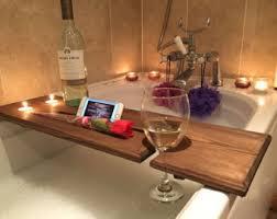 Diy Bathtub Caddy With Reading Rack by Bath Caddy Etsy