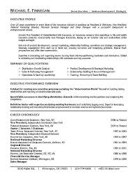 Life Insurance Executive Resume Example Template Templates Cv Best